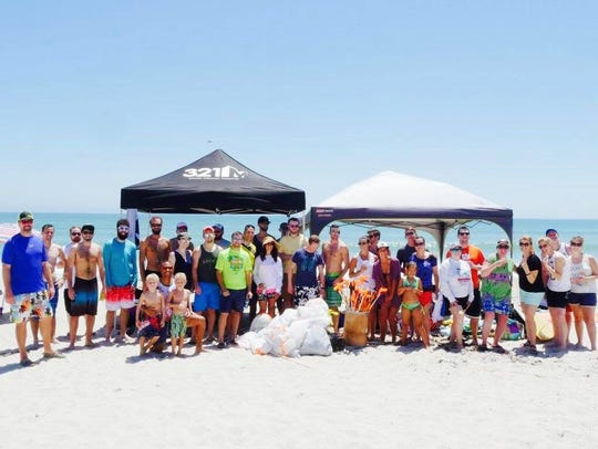 321Millennials at a beach clean up this year for Keep