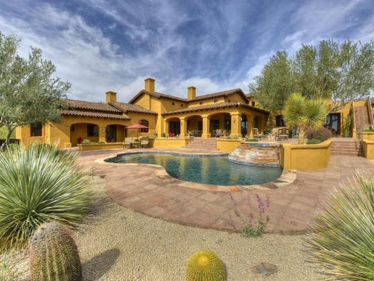 This Tuscan-style Scottsdale house sold for $3.4M.