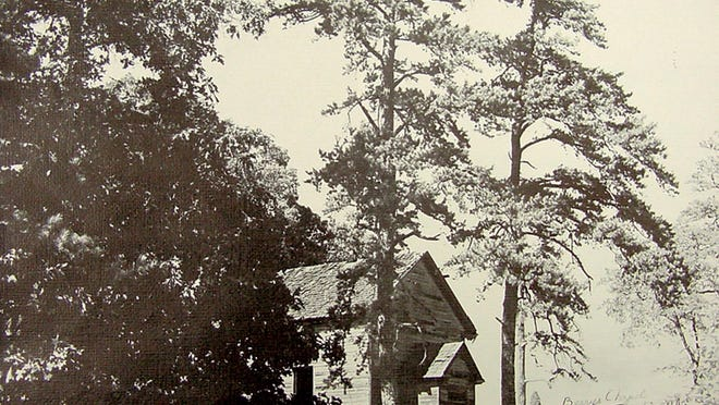 A vintage photo of Berry's Chapel. African-American Methodists came from miles around to worship at the chapel.