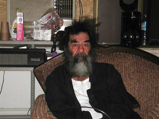 This unsourced picture shows ousted Iraqi leader Saddam Hussein at an unknown location in Iraq following his capture by US troops Dec. 13, 2003, in an underground hole at a farm in the village of ad-Dawr, near his hometown of Tikrit in northern Iraq.