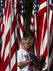 Ben Hershenson watches during a past Memorial Day ceremony at Riverside Park in Bonita Springs.