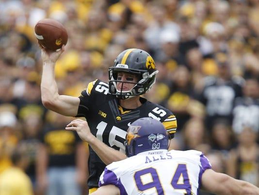 Jake Rudock Iowa Football Passing