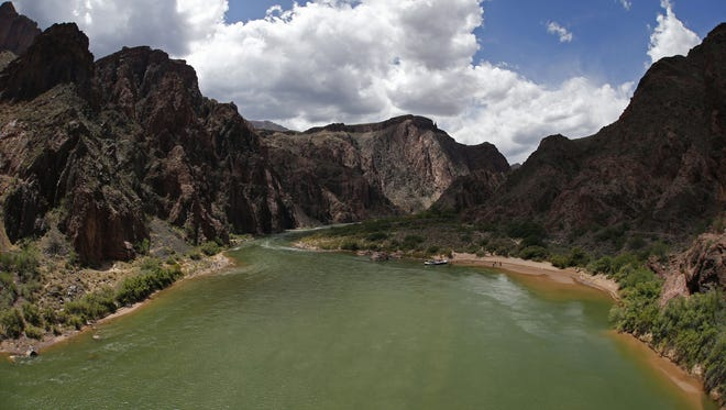 Increasing water demand and long-term drought threaten the health of the lower Colorado River, which flows here through the Grand Canyon on the South Kaibab Trail. The group American Rivers named the lower Colorado the country's most endangered river for 2017.