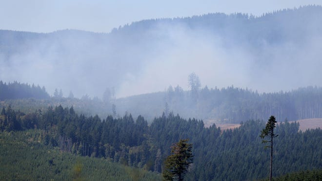 Fire crews made progress on the Willamina Creek Fire Thursday night near Willamina.