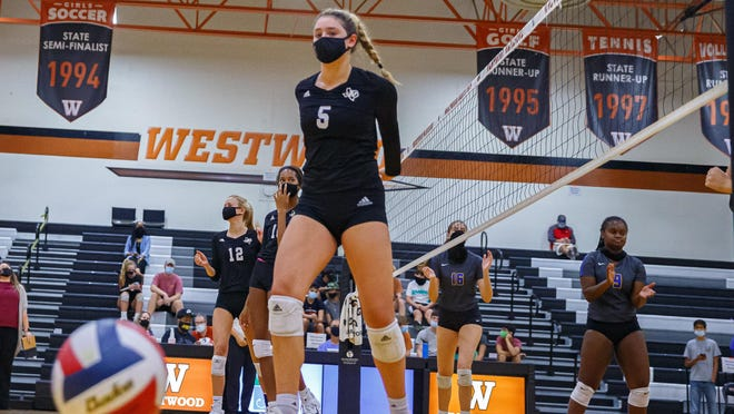 Austin High setter Kasen Rosenthal turned in a phenomenal performance in the Maroons' four-set win over Westlake Friday with 11 kills, 19 assists, 11 digs and two aces.