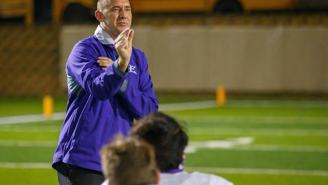 Elgin head coach Jens Anderson led the Wildcats to a 41-22 win over Glenn Friday.