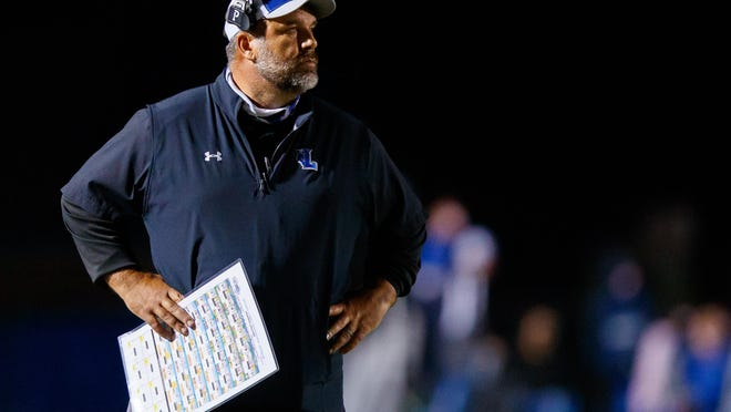 Lehman head coach Bruce Salmon and the Lobos were defeated 49-7 by San Antonio Veterans Memorial Friday.