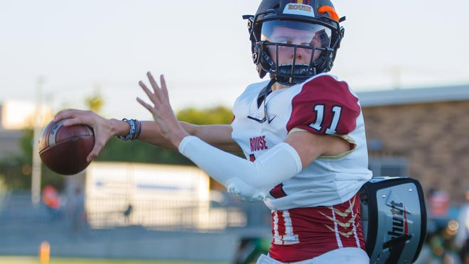 Rouse sophomore quarterback Mason Shorb, throwing before a game against Connally in October, averages 271 yards passing for a team that has exceeded expectations with a 7-1 record.