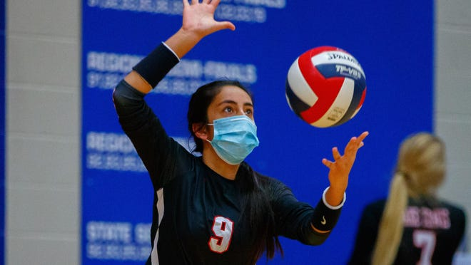 Emily Contreras and the Lake Travis volleyball team host San Antonio Clark in the second round of the Class 6A state playoffs Monday. The Cavaliers sport a 20-0 record on the year.