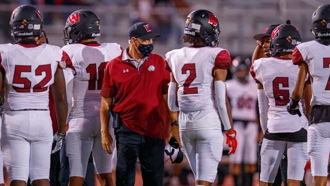 Weiss coach Steve Van Meter, speaking to his players during a September game against Rouse, said he is already looking forward to the 2021 season. He had a Zoom conference Friday to inform the team that its current season was suspended.