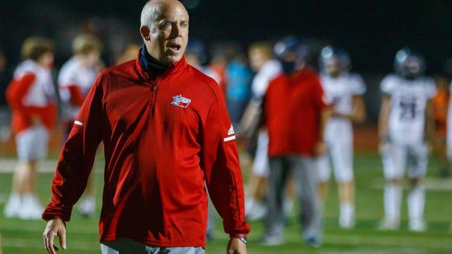 Wimberley head coach Doug Warren led the Texans to a 35-14 win over Sinton Saturday.