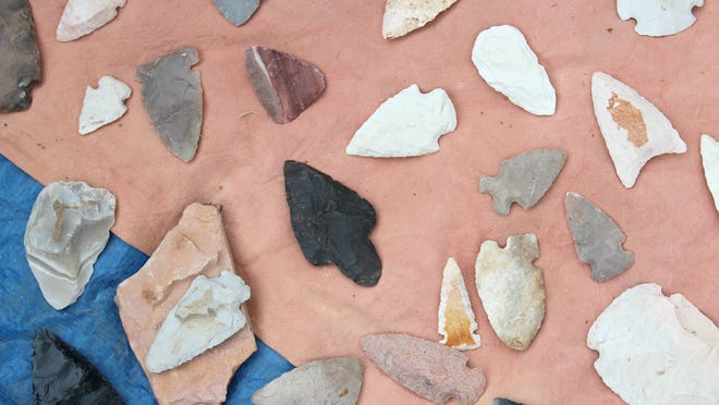 An International Archaeology Day celebration in Iowa City on Oct. 18, 2014 included demonstrations of flintknapping, or the art of making tools using fine-grained rocks such as flint or chert.