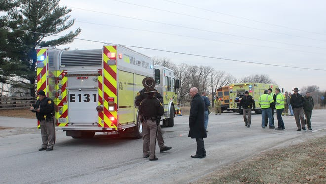 Officials with the Iowa State Patrol, Johnson County Sheriff's Office, the Solon Community School District and other offices responded Thursday to a crash with one fatality involving a Solon school bus.