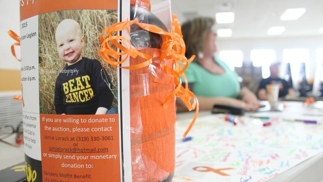 A bone marrow match drive in Lone Tree on Thursday was aimed at finding a match for Sanders Moffit, as well as others in need of bone marrow transplants.