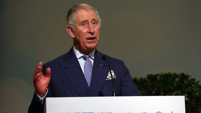 Prince Charles, Prince of Wales gives the opening address at the first high-level session of the Lima Paris Action Agenda on forests at the United Nations Climate Summit on Dec. 1, 2015, in Paris.