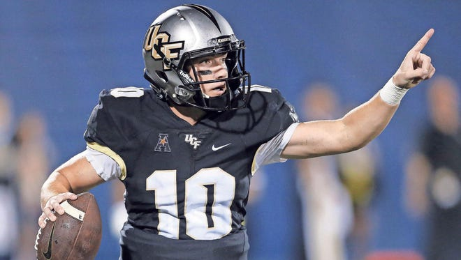 UCF sophomore quarterback McKenzie Milton started 10 games for the Knights last year, completing 58 percent of his passes to go along with 10 touchdowns.