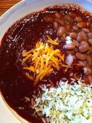 Red chile enchiladas.