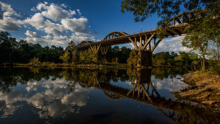 The iconic Bibb Graves Bridge in Wetumpka on Oct. 28.
