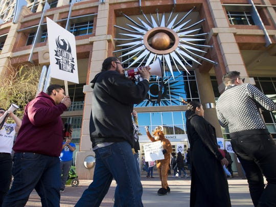 Protesters urge Mayor Greg Stanton to keep Phoenix