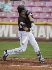 Volcanoes third baseman Trevor Abrams is hitting .361,
