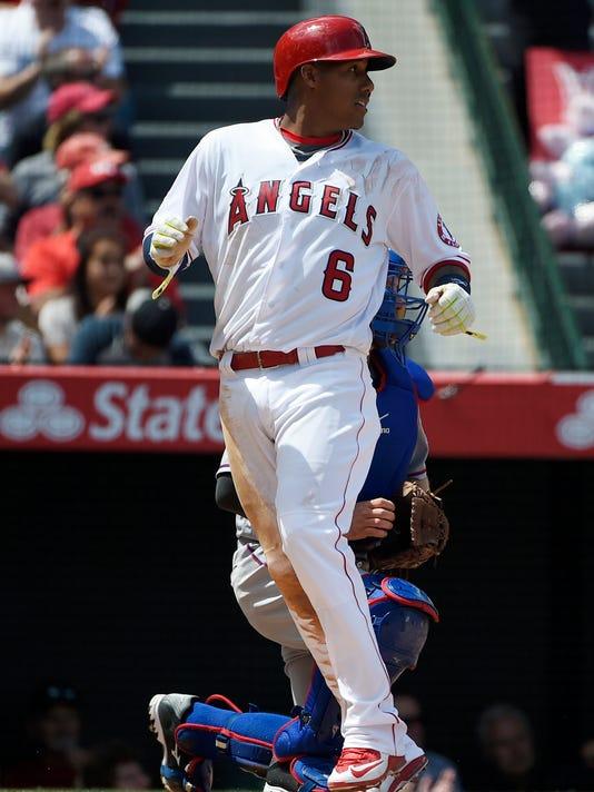 USP MLB: TEXAS RANGERS AT LOS ANGELES ANGELS S BBA USA CA