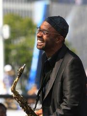 Kenny Garrett during the 2012 Detroit Jazz Festival in Hart Plaza.