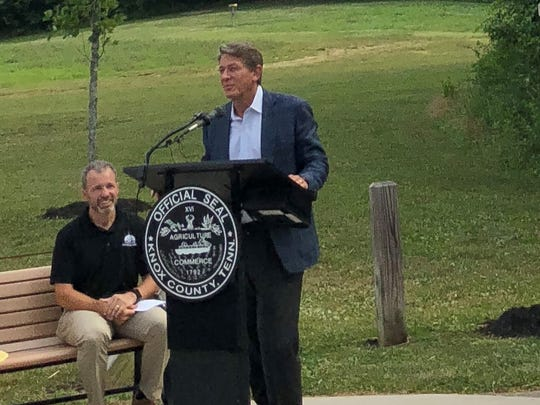"""This dog park was our first public park,"" said Randy Boyd, PetSafe owner and Republican gubernatorial candidate. ""We have nine parks in and around Knoxville. They are not just for dogs, they are for people. At a dog park people come together – it builds community. Even though I did not get to meet Emma, I feel like I can understand her spirit and heart. There's a place in heaven for people who love dogs."""