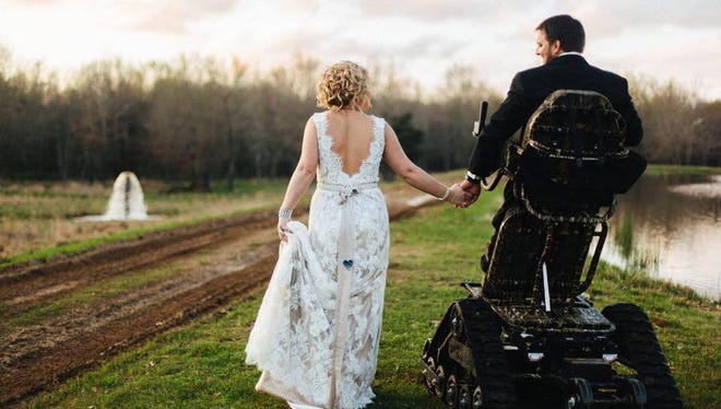 Kent Stephenson defied the odds by standing at his wedding as he watched his bride walk down the aisle.