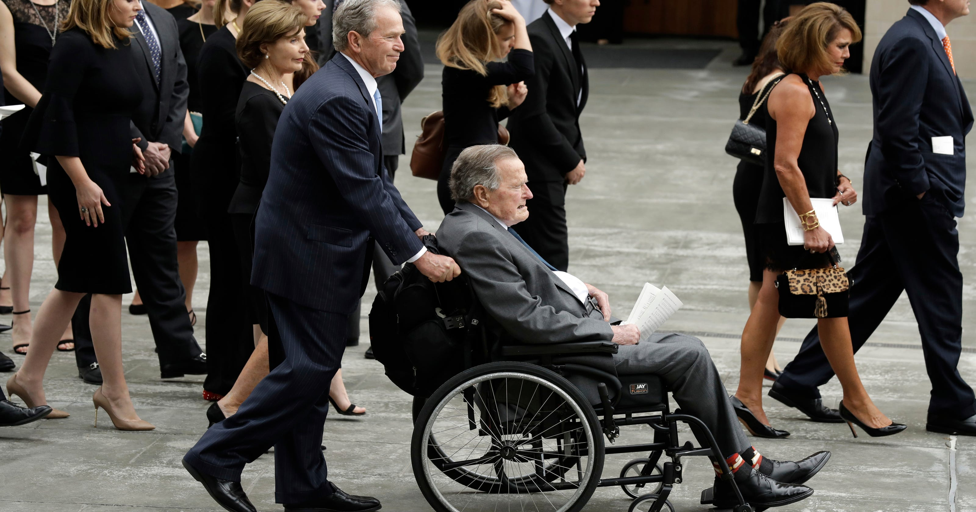 Barbara Bush Funeral Obama And Bill Clinton Melania Trump Attend