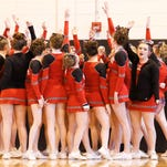 Chenango Valley varsity compete Sunday at the STAC Cheerleading Championships at Union-Endicott High School.