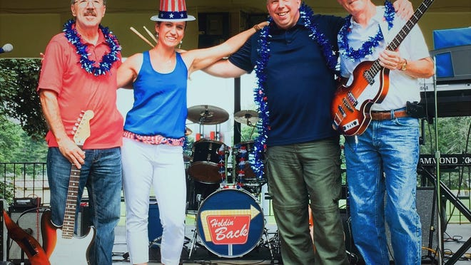 The Holdin' Back band, from left, Paul Blaquiere, Emma Riffelmacher, Joe Ostrenga and Craig Smith.