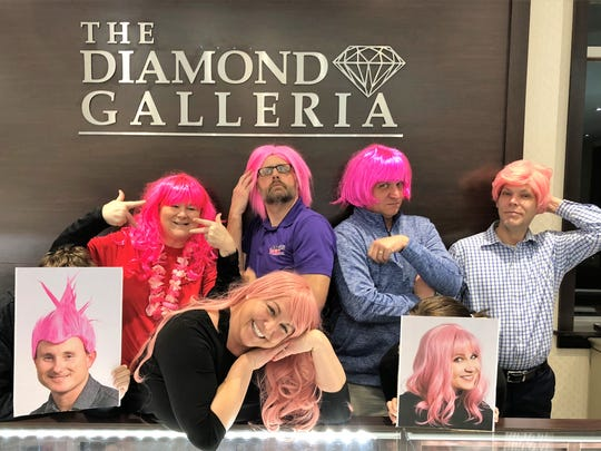 BigWigs – You may have seen a handful of folks sporting pink wigs around town. There are 10 locals involved in the Komen Evansville BigWigs fundraiser, running through till March 16. Each has been charged to raise of bit of money to support Komen and share its message. This year's kickoff party was held at The Diamond Galleria. In the photo are Millie Marshall, Bobby Gates, Ryan O'Bryan, Tommy Mason, Shawn King, Amy Word-Smith and Nikki Davis. Unable to join the party were Jeff Robb, Tijuanna Toliver and myself.