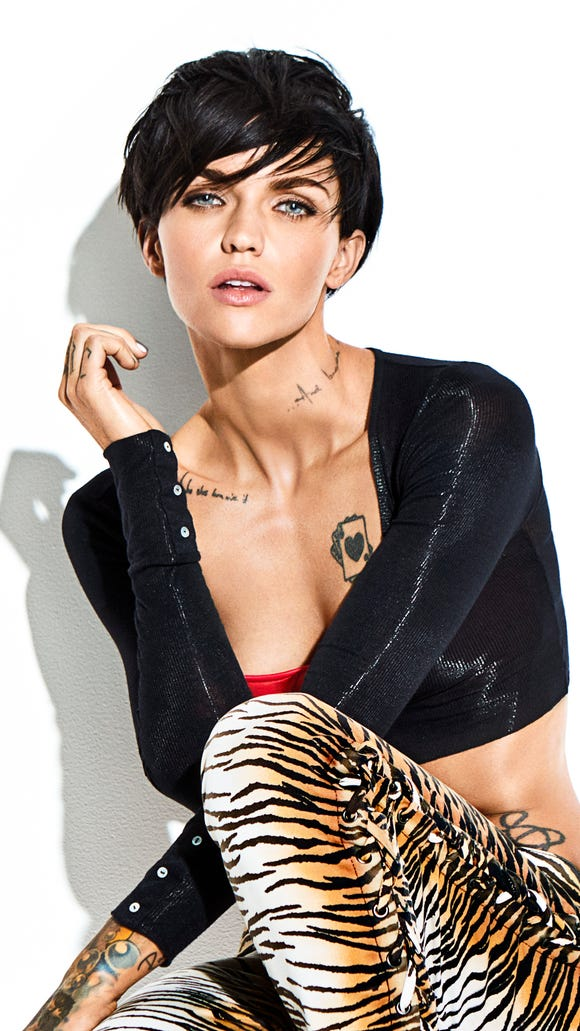 Actress Ruby Rose in Cosmopolitan's March issue.