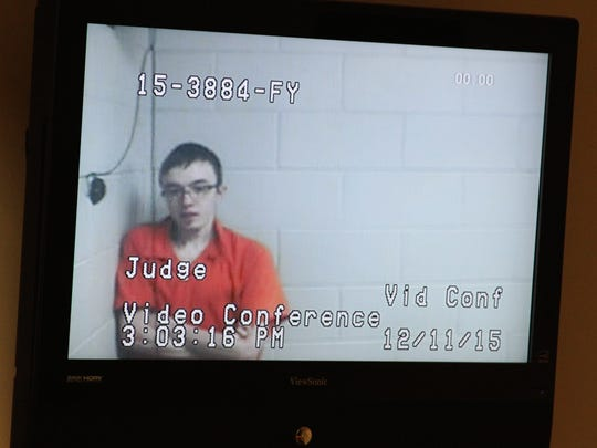 Scott Richard Parker, of Canton, was arraigned via video from the Livingston County Jail on four counts of making a false report or threat of terrorism.