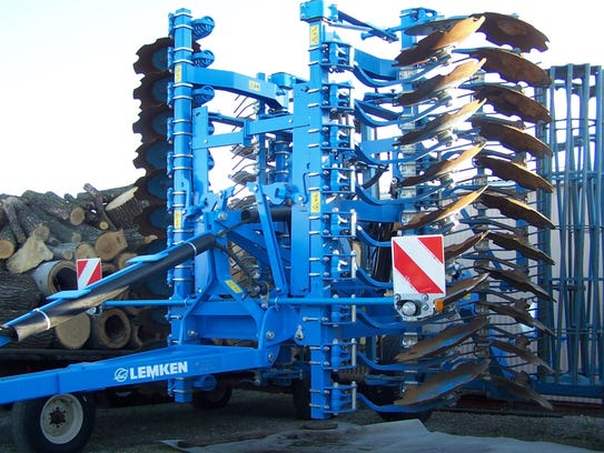 A Lemken tiller made in Germany serves Greg Nettekoven