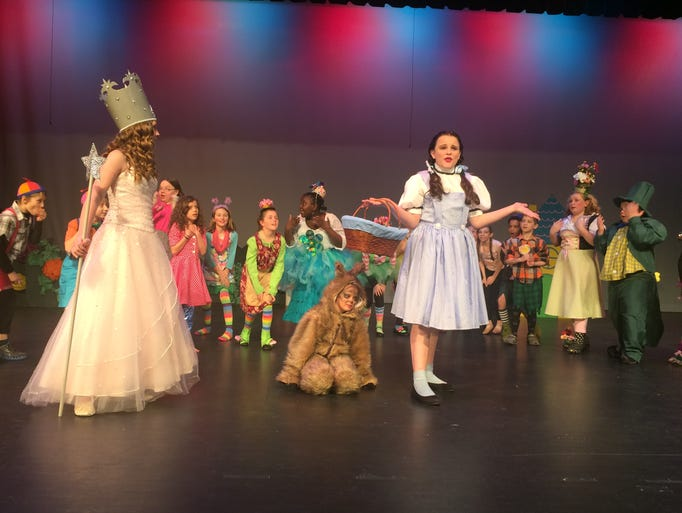 Emma Rokus as Glinda, Taya Cassiani as Toto and Alli