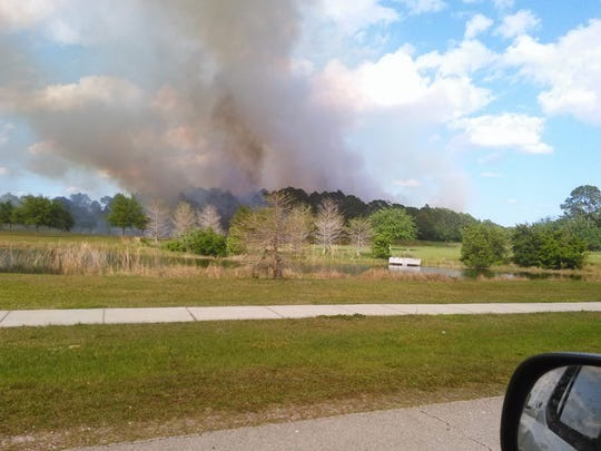 Palm Bay fire on Sunday.