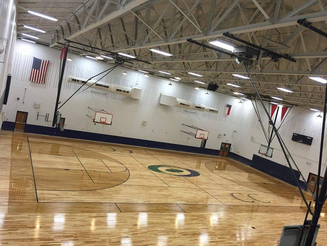 Carolina Hardwood recently put in a new floor for Cane Creek Middle School.