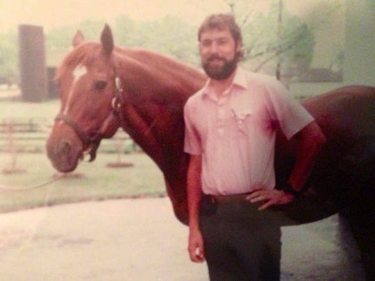 Mike Strange with Secretariat in 1985.