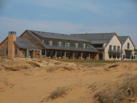 The clubhouse at Sand Valley.