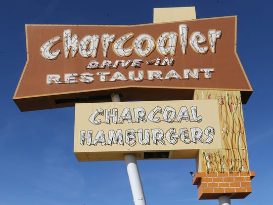 The neon Charcoaler sign stands at 5837 N. Mesa in
