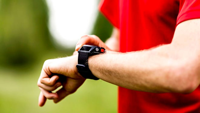 Runner with watch