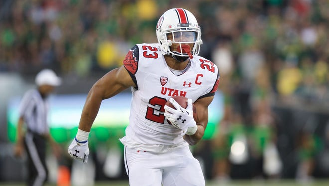 Utah's Devontae Booker is third in the Pac-12 in rushing with 783 yards and eight touchdowns.