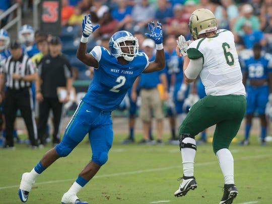 University of West Florida linebacker Andre Duncombe