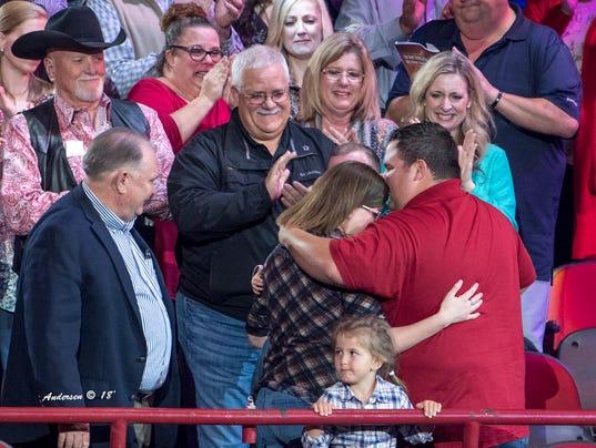 Ian Rook and family share hug