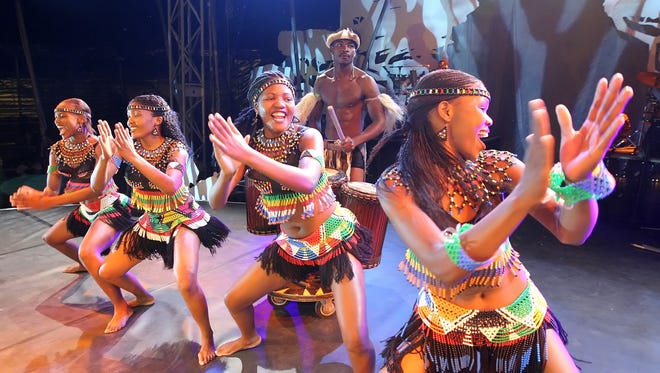 """Cirque Zuma Zuma will perform at 7 p.m. Saturday at Inn of the Mountain Gods Resort & Casino in Mescalero, N.M. The circus is """"like a full celebration on stage,"""" said performer Konde Kama. It has been described as Many describe it as an African-style Cirque du Soleil."""