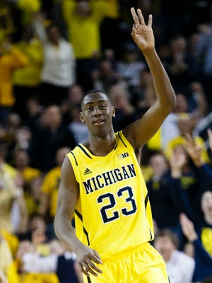 Michigan Wolverines guard Caris LeVert (23) decided to go back to school and not enter the draft.