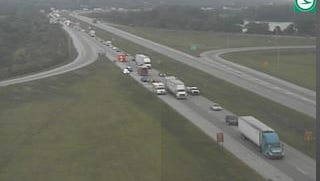 One lane re-opened shortly before 9 a.m. Wednesday on SB I-275 at US 50.