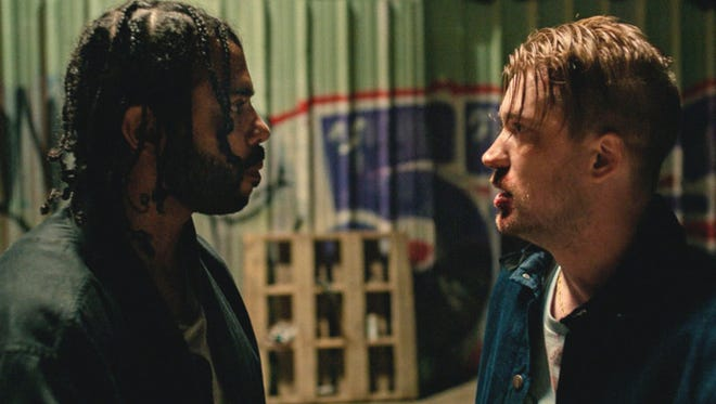 """Daveed Diggs, left, Rafael Casal play friends since childhood in """"Blindspotting,"""" opening Friday."""