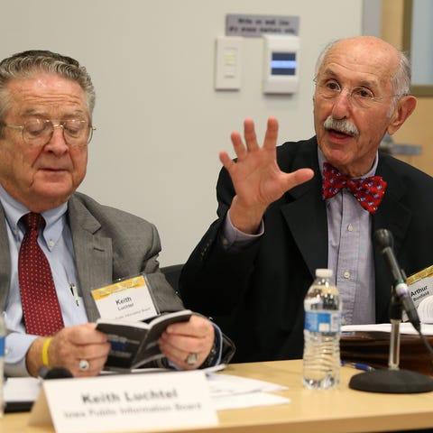 University of Iowa professor Arthur Bonfield...